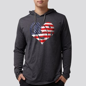 I hart USA Mens Hooded Shirt