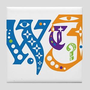 Designer WTF Tile Coaster