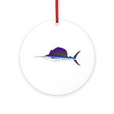 Sailfish fish Ornament (Round)