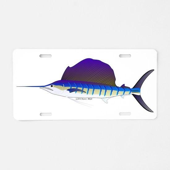 Sailfish fish Aluminum License Plate