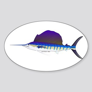 Sailfish fish Sticker (Oval)