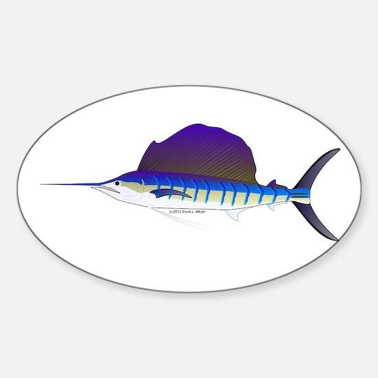 Sailfish fish Sticker (Oval)