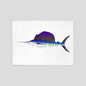Sailfish fish 5'x7'Area Rug