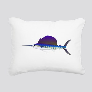Sailfish fish Rectangular Canvas Pillow