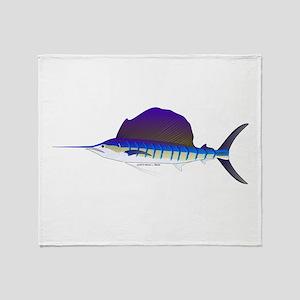 Sailfish fish Throw Blanket