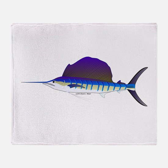 Sailfish fish Throw Blanket