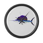 Sailfish fish Large Wall Clock