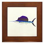Sailfish fish Framed Tile
