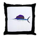 Sailfish fish Throw Pillow
