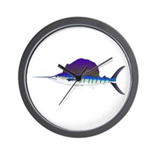 Sailfish fish Wall Clock