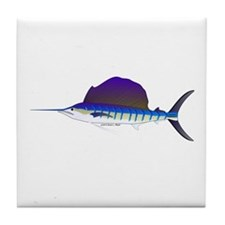 Sailfish fish Tile Coaster