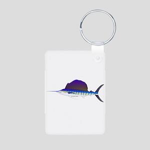Sailfish fish Aluminum Photo Keychain