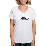 Sailfish fish Women's V-Neck T-Shirt
