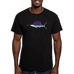 Sailfish fish Men's Fitted T-Shirt (dark)