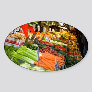 Pikes Place Veggies Sticker (Oval)