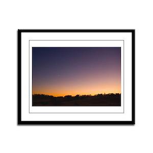 Sunset in Central California Framed Panel Print
