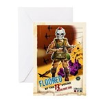 Floored By The 13th Greeting Cards (Pk of 10)