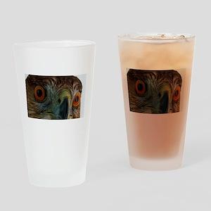 Raptor Eyes Drinking Glass