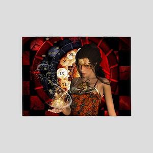 Wonderful steampunk lady with clocks and gears 5'x
