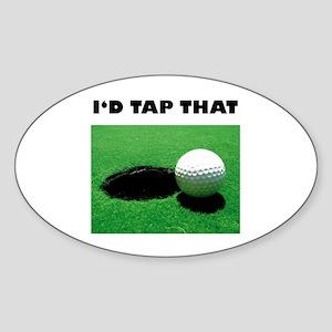 Id Tap That Sticker (Oval)