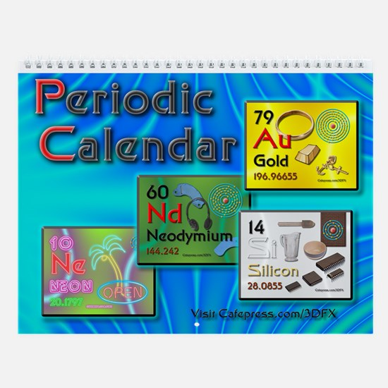 Periodic table gifts merchandise periodic table gift ideas periodic atomic wall calendar urtaz Choice Image