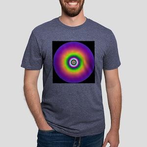 3art100 purple jellyfish di Mens Tri-blend T-Shirt