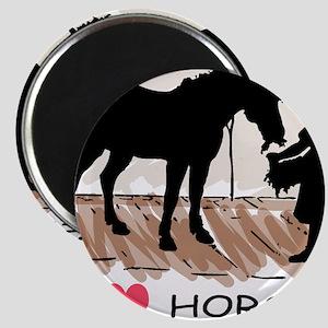 Horse & Girl I Heart Horses Magnets