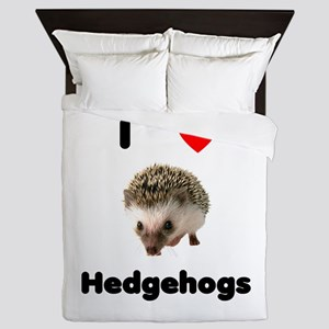 I Love Hedgehogs Queen Duvet