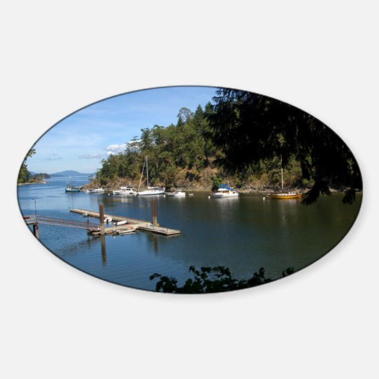 View of the Harbour Sticker (Oval)