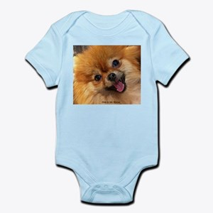 Happy Pomeranian Infant Bodysuit