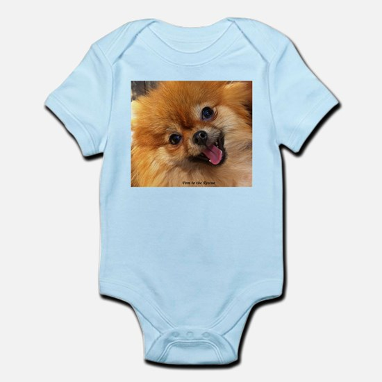 Happy Pomeranian Infant Bodysuit