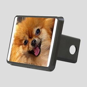 Happy Pomeranian Rectangular Hitch Cover