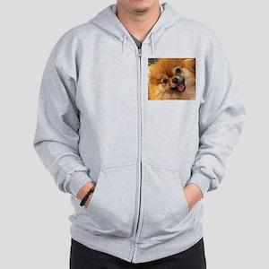 Happy Pomeranian Zip Hoodie