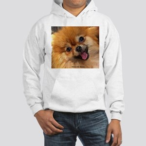 Happy Pomeranian Hooded Sweatshirt