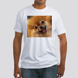 Happy Pomeranian Fitted T-Shirt