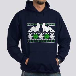Funny Ugly Christmas Sweater Hoodie (dark)
