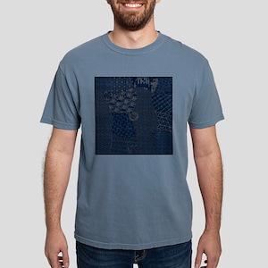 Sashiko-style Embroidery Mens Comfort Colors Shirt