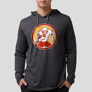 American Football Running Ball C Mens Hooded Shirt