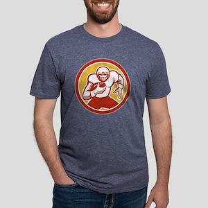 American Football Running B Mens Tri-blend T-Shirt