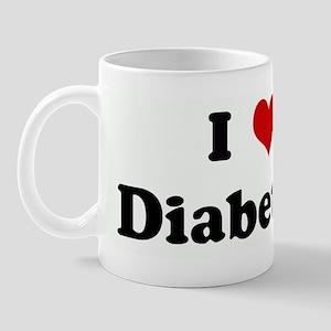 I Love Diabetics Mug