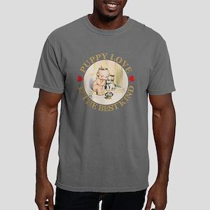 2-KEWPIE_PUPPY_LOVE_GOLD Mens Comfort Colors Shirt