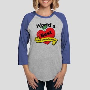 Worlds Best 2nd. Grade Teacher Womens Baseball Tee