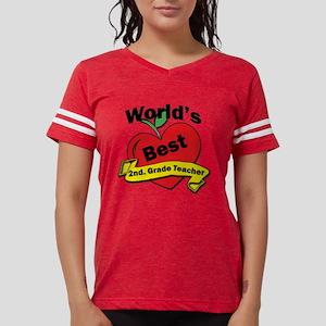 Worlds Best 2nd. Grade Teach Womens Football Shirt