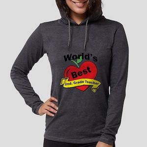 Worlds Best 2nd. Grade Teacher Womens Hooded Shirt