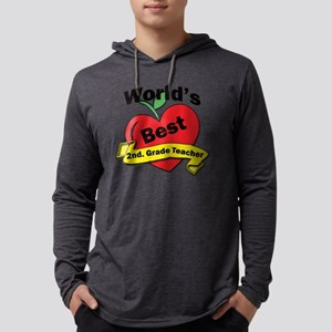 Worlds Best 2nd. Grade Teacher Mens Hooded Shirt