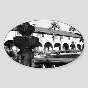 Mission Santa Barbara Sticker (Oval)