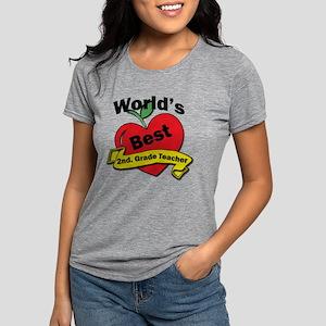 Worlds Best 2nd. Grade Te Womens Tri-blend T-Shirt