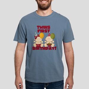 Twin Boy and Girl 1st Bi Mens Comfort Colors Shirt