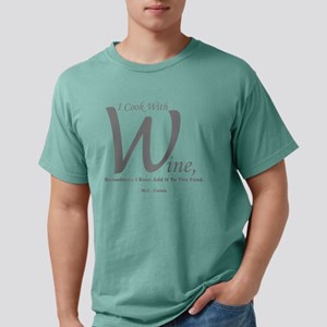 I Cook With Wine Mens Comfort Colors Shirt