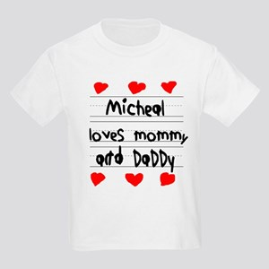 Micheal Loves Mommy and Daddy Kids Light T-Shirt